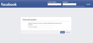 Entrare su Facebook tramite numero di telefono