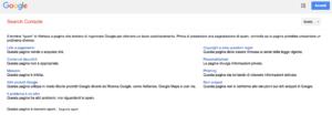 Segnalazione a Google