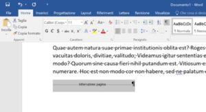 Eliminiamo interruzione di pagina Word su Mac e Windows