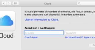 eliminare account iCloud