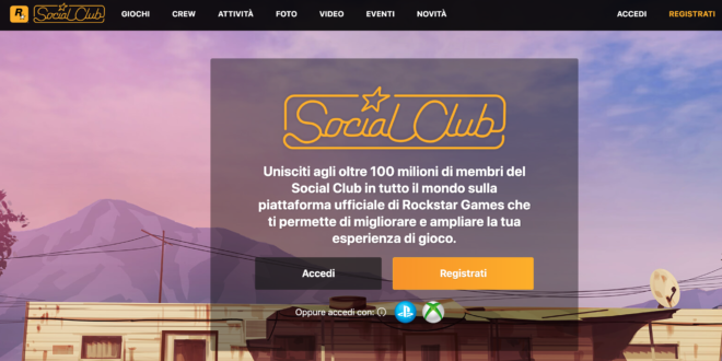 Registrarsi su Social Club GTA